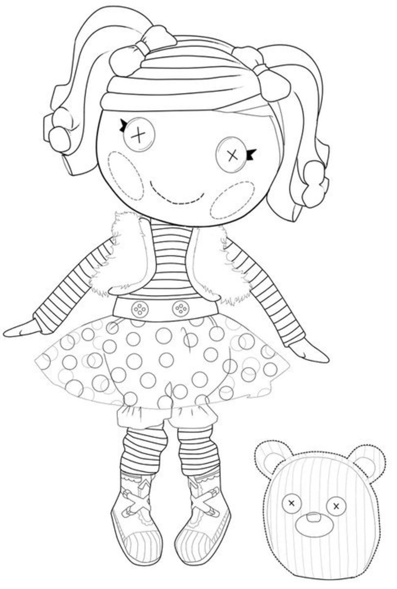Lalaloopsy Coloring Pages Facebook