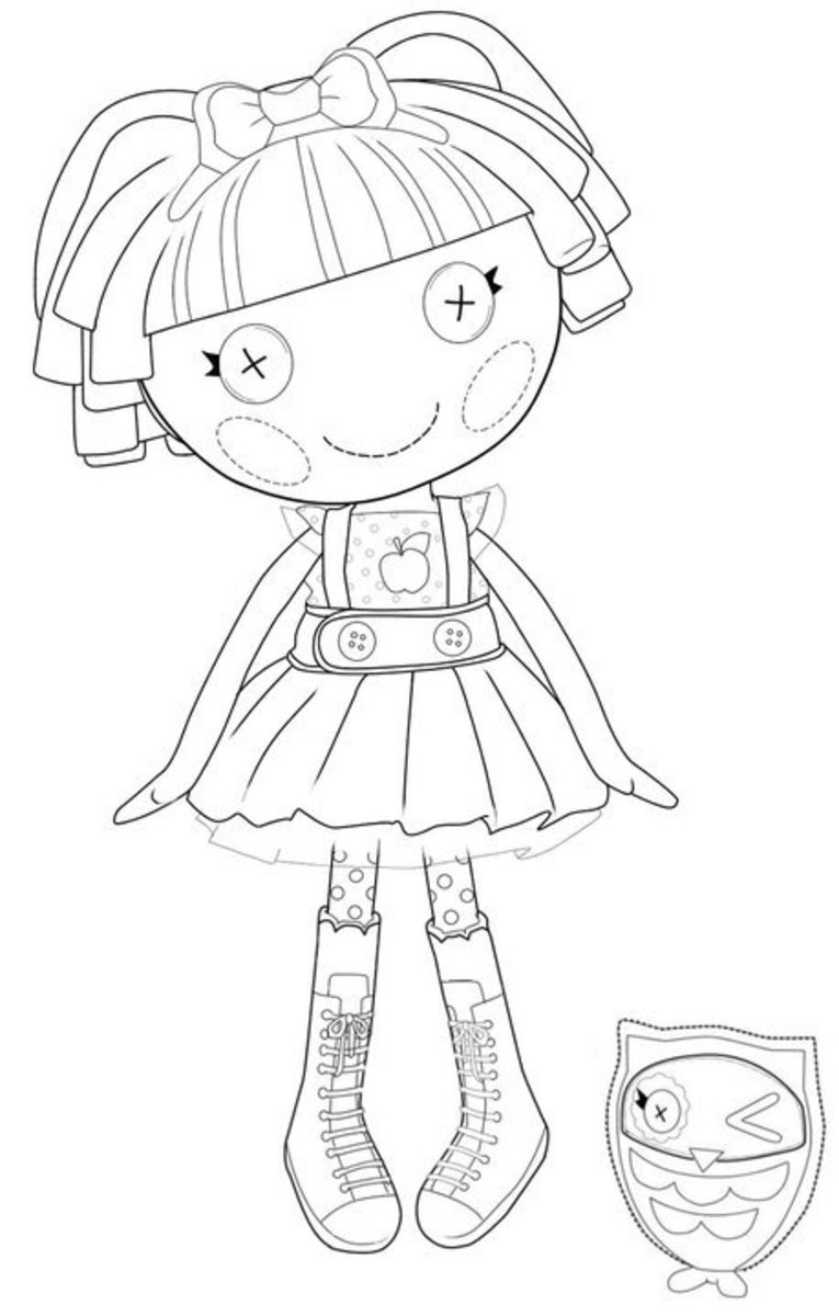 lala oopsies coloring pages   The Best Lalaloopsy Dolls Coloring Pages