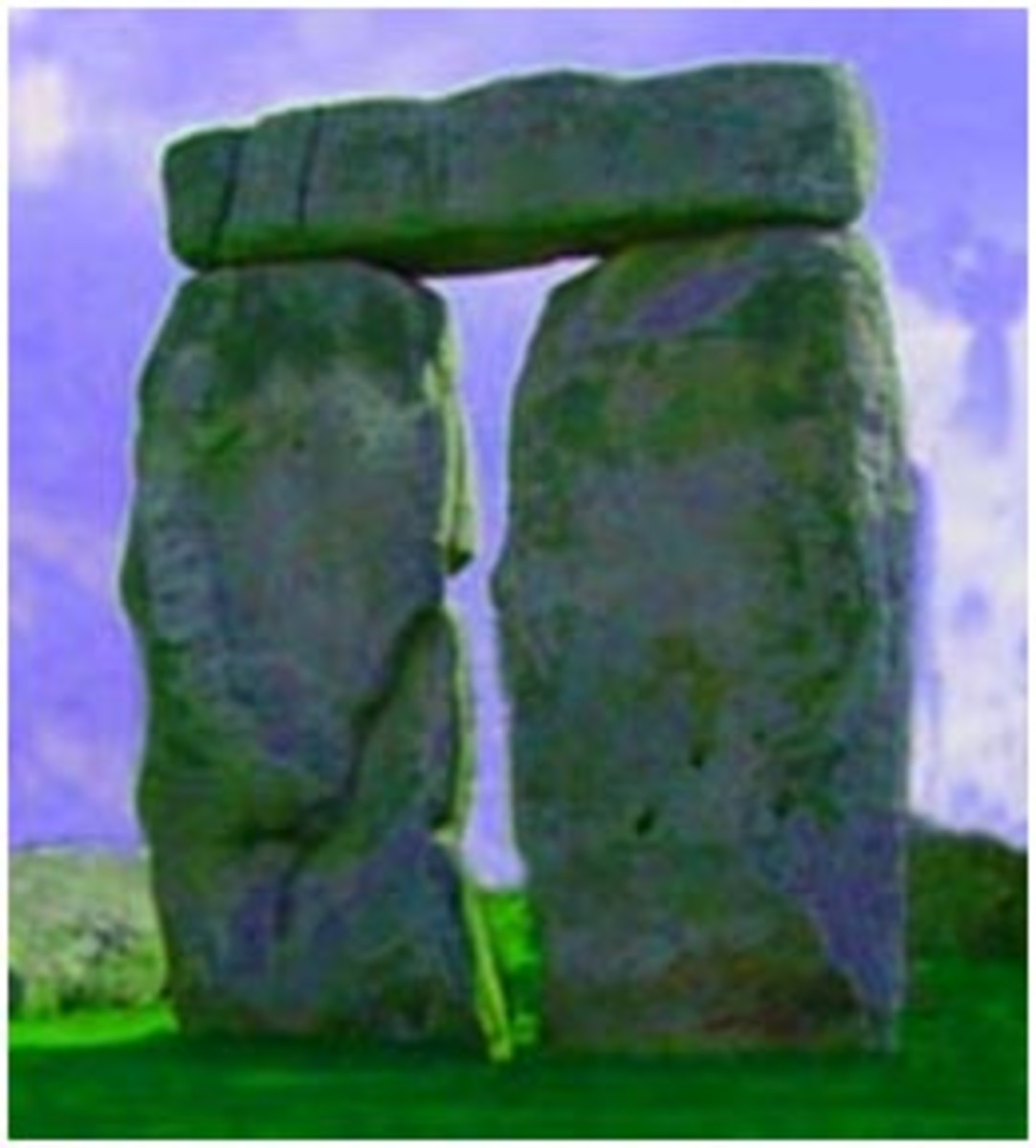 A part of the Stonehenge monument