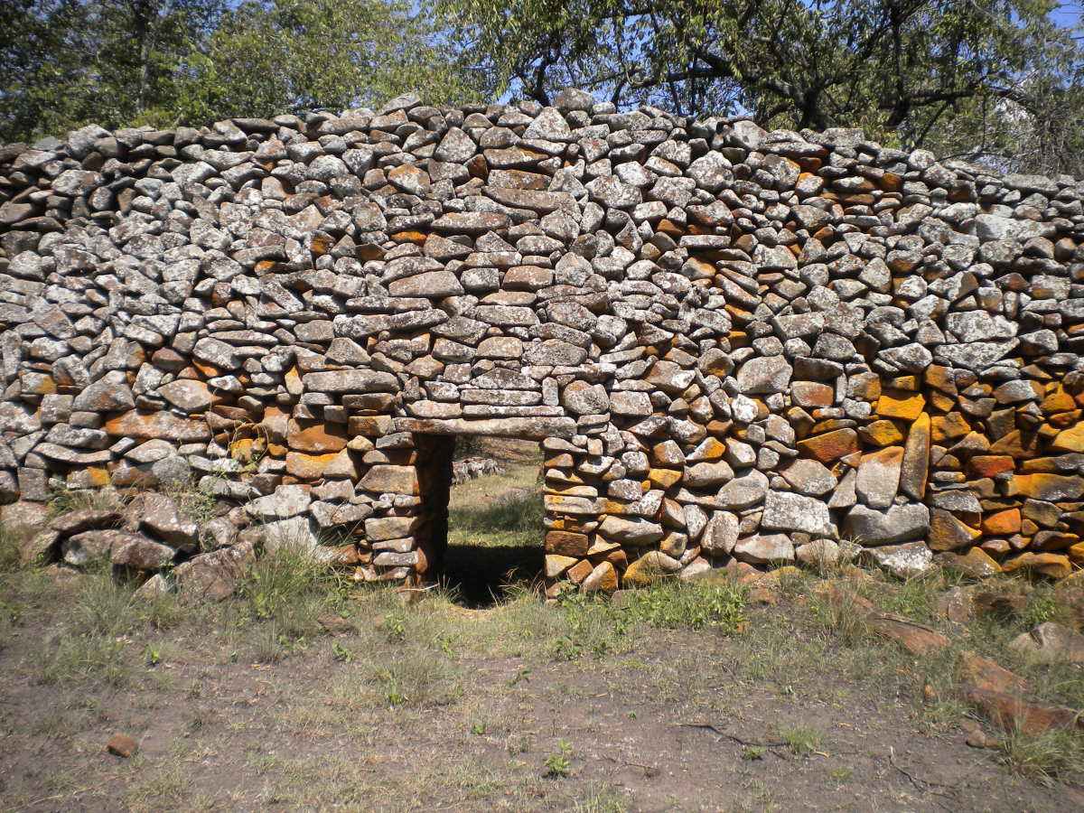 Part of the Thim Lich Ohinga stone structure in Kenya. The inhabitants of this stone walled village are believed to have been sun worshipers