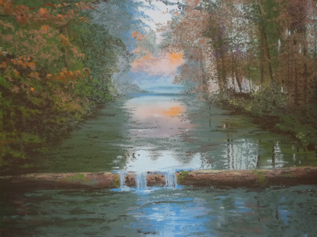 Reflections of Autumn - SOLD.   Unison pastels on Colourfix paper