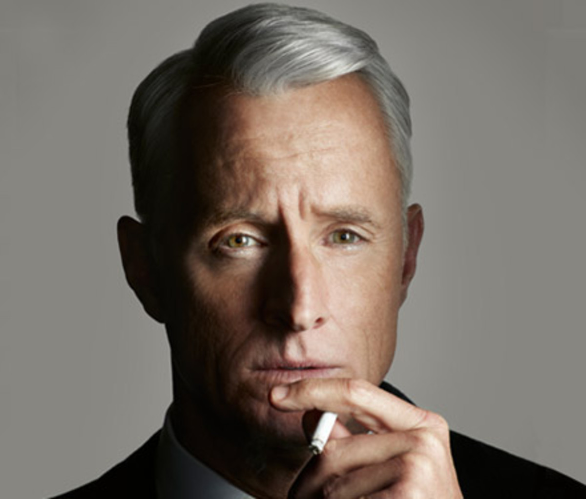 Roger Sterling hairstyle.