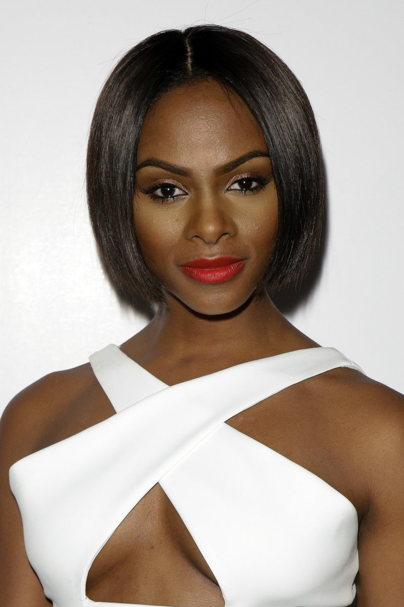 Tika Sumpter in bold rd lipstick