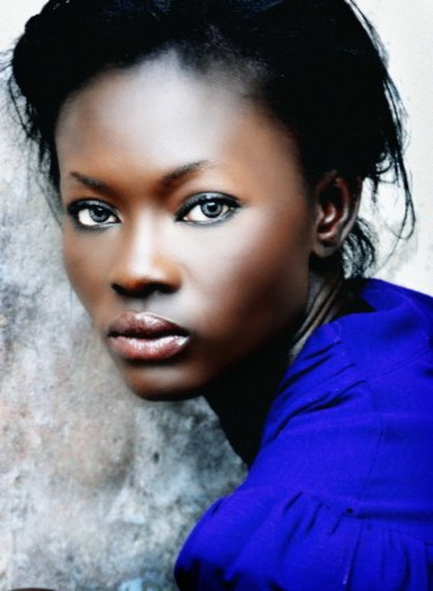 Adeola Ariyo's lipstick. The best lipstick colors for dark skin.
