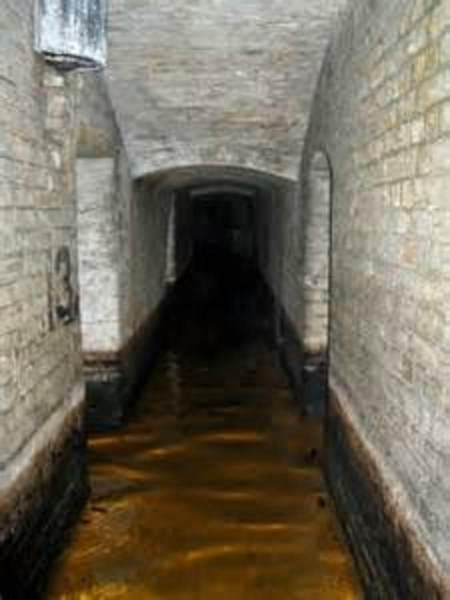 Ground level tunnel