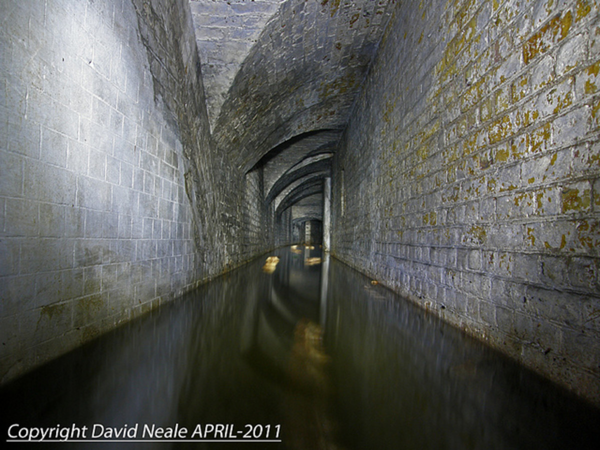 Inside ground level tunnels