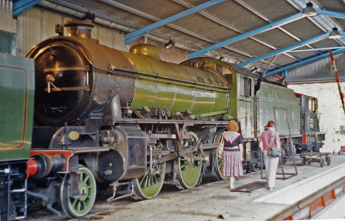 Here is K1 2005 under NELPG ownership in her earlier LNER livery at Grosmont Shed (home base) - image by Ben Brooksbank - Hornby brought out their 4mm version between November 2014 and January 2015