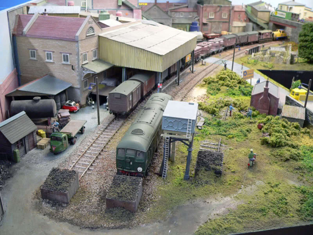Bird's-eye view of the cement works on the Harton Gill layout
