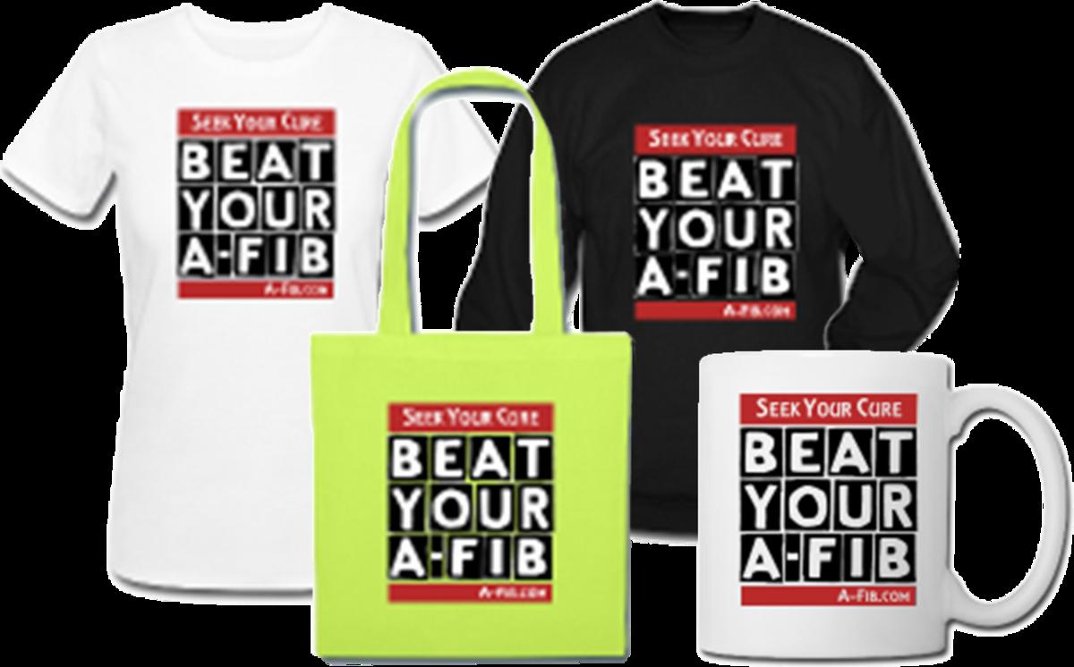 Each sale generates a $2 commission for our non-profit website, A-Fib.com.