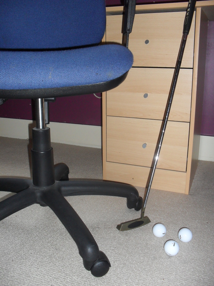 Office Golf: Add it to your list of charity fundraising ideas.