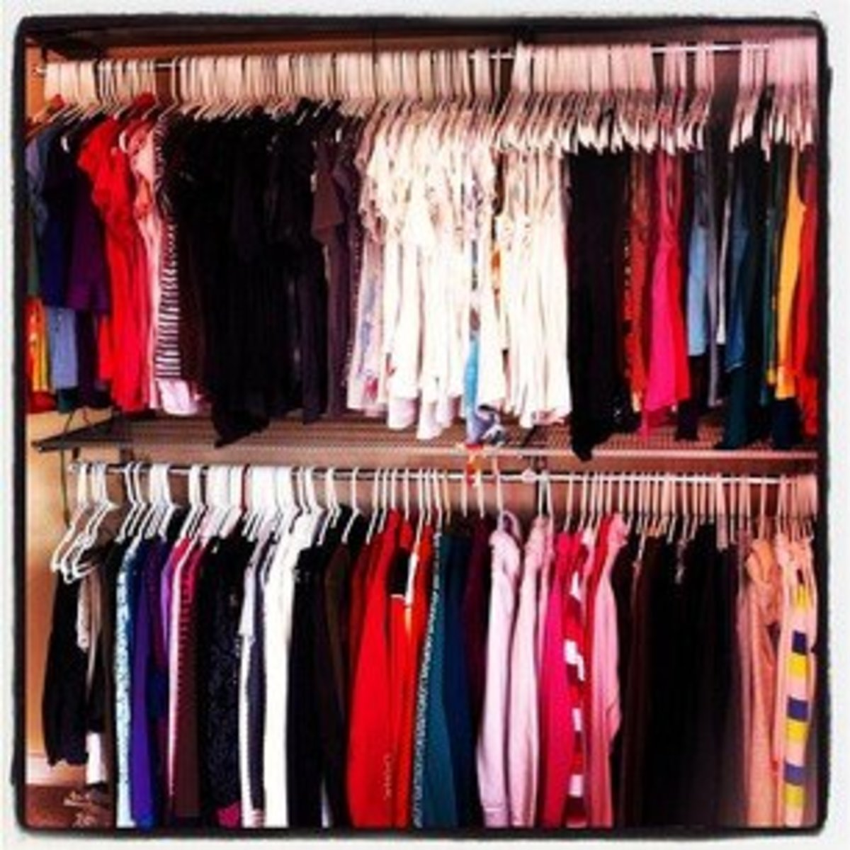 How To Organize Your Clothes Closet By Type And Color Step