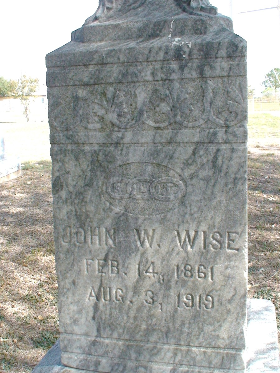 John Wise's inscription.