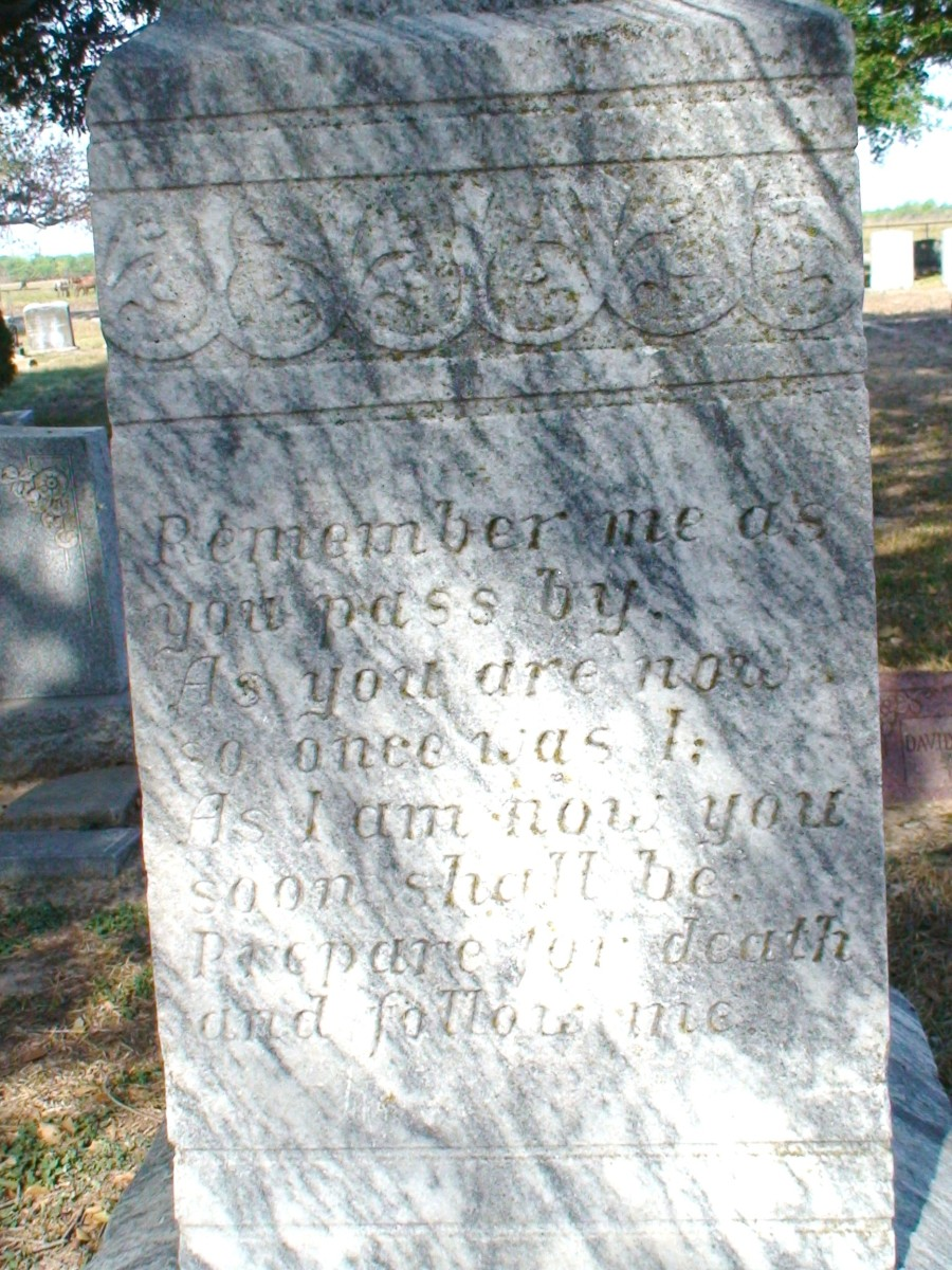 The epitaph.