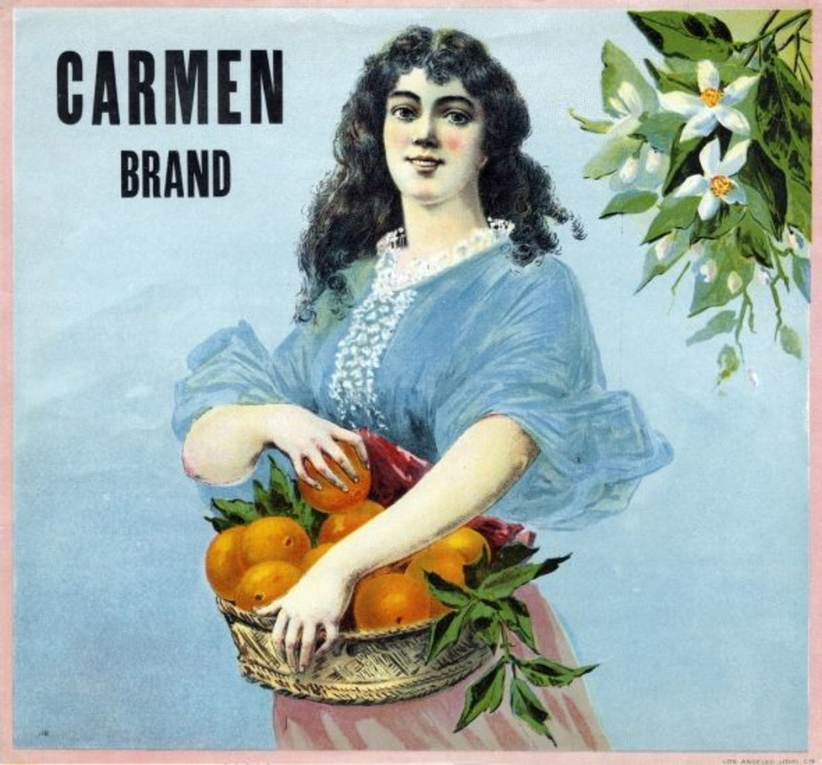 An orange crate label, believed public domain, for more info click