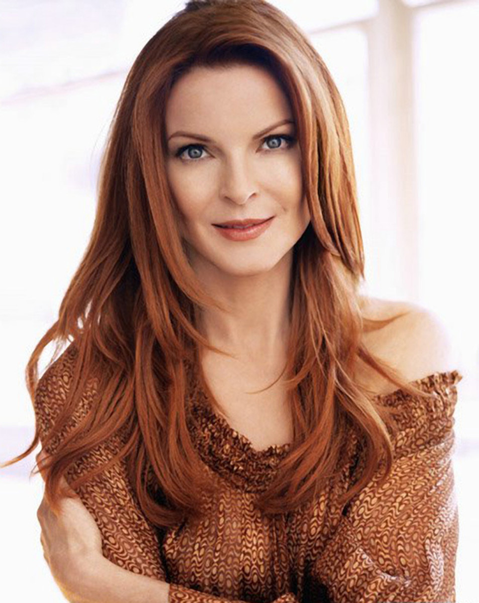 Marcia Cross. Celebrities with red hair and blue eyes.
