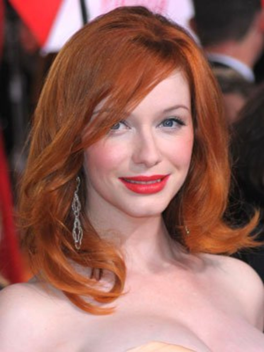 Christina Hendricks. Blue-eyed redhead.