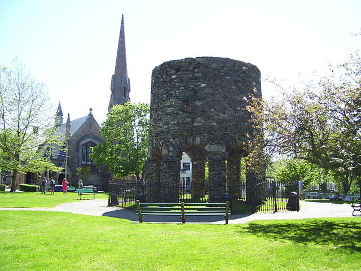 A contemporary view of The Newport Tower