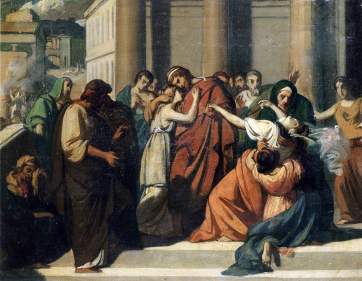 Oedipus Separating from his wife-mother Jocasta by Alexandre Cabanel [Public domain], via Wikimedia Commons