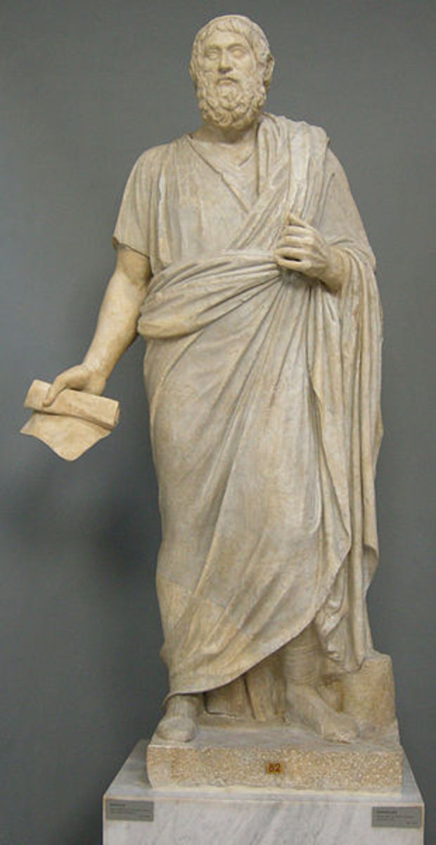 Statue of Sophocles in the Lateran Museum(Rome) I, Sailko [GFDL (http://www.gnu.org/copyleft/fdl.html) or CC-BY-SA-3.0 (http://creativecommons.org/licenses/by-sa/3.0)], via Wikimedia Commons