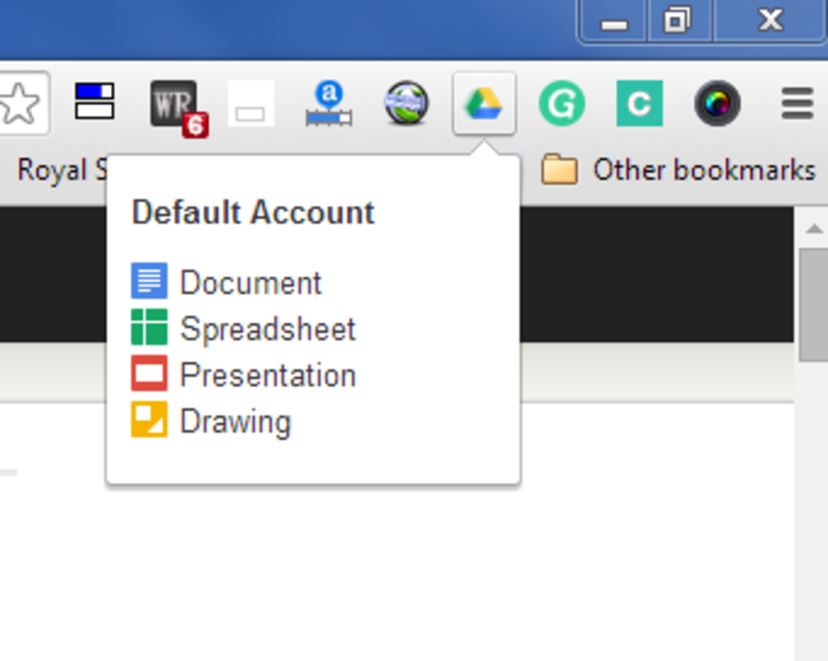 Google Docs extension in Chrome browser