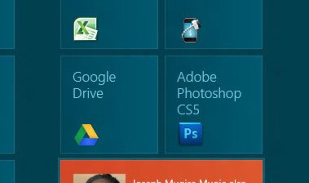 Google drive tile.