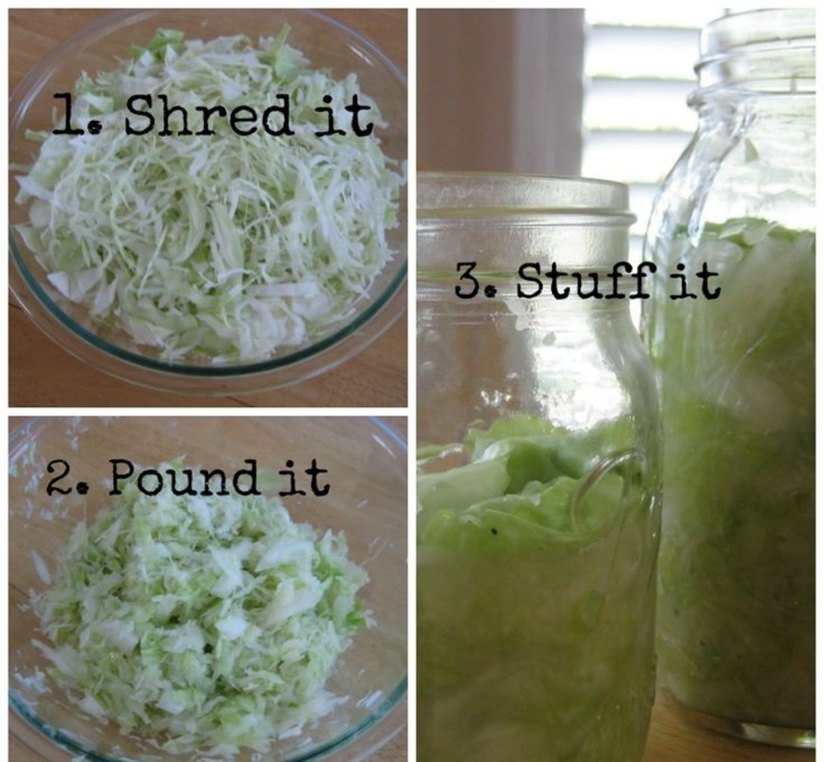 Preserving Food, Canning, Making Sauerkraut, Everything You Need To Know To Make Sauerkraut.