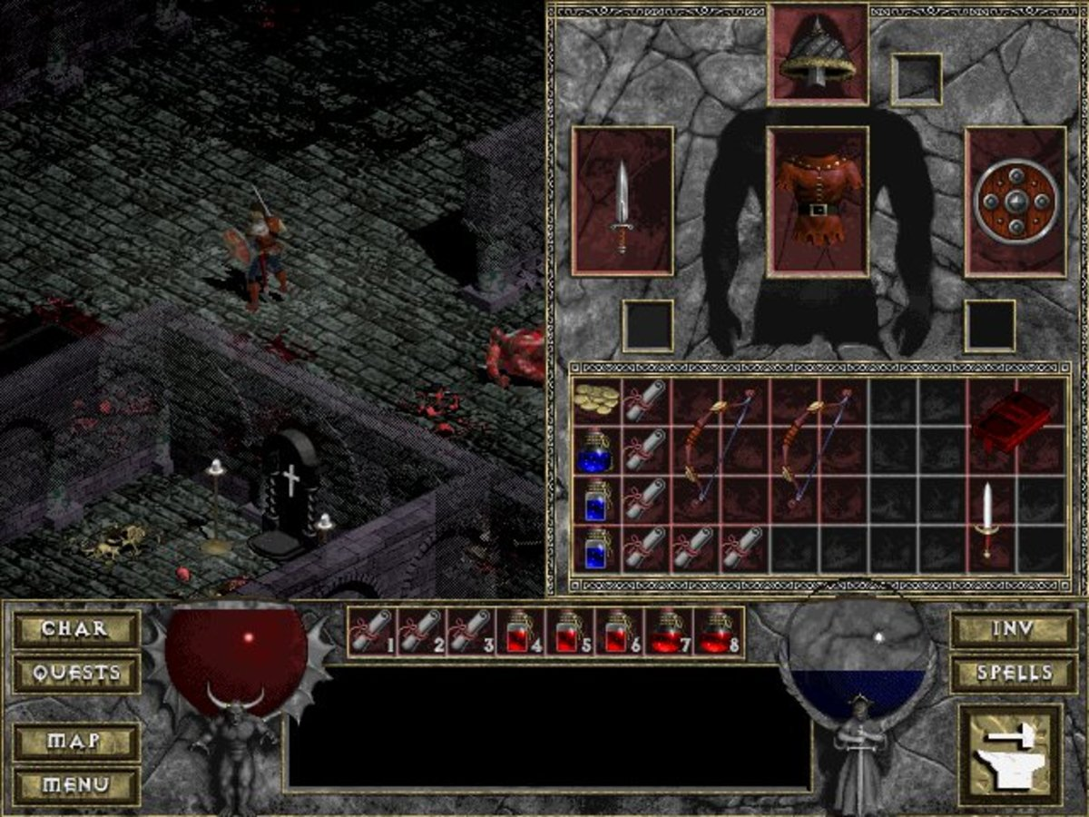 Diablo doesn't give you a lot of room to store loot, so managing your inventory plays a significant role in the game. You can't carry everything you'd like to.