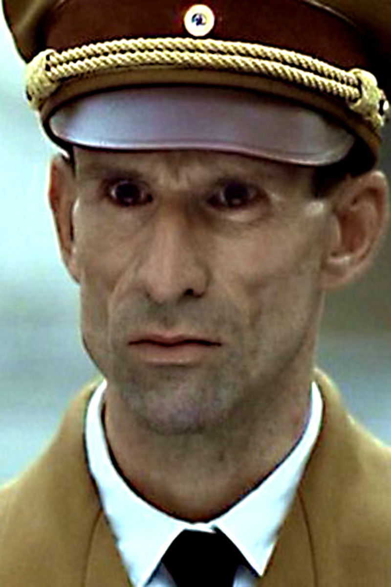 The face of evil (not Ulrich Matthes the actor, but Joseph Goebbels, the character he plays)