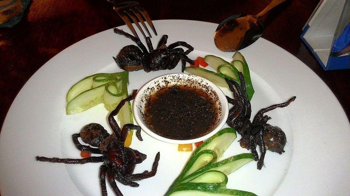 Ready to Eat, Tarantulas on a plate.