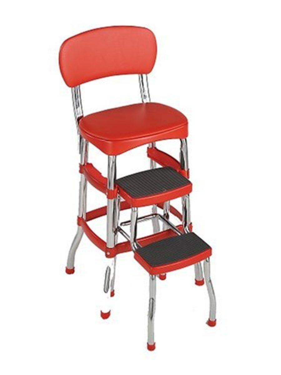 Vintage inspired handy kitchen stool/step ladder