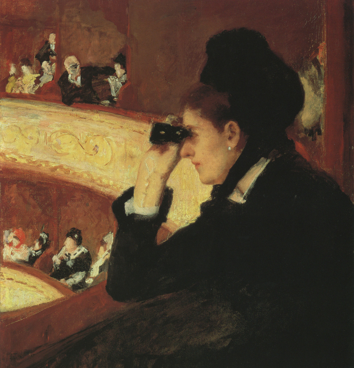 """In the Loge,"" by Mary Cassatt, 1879, oil on canvas. Museum of Fine Arts Boston."