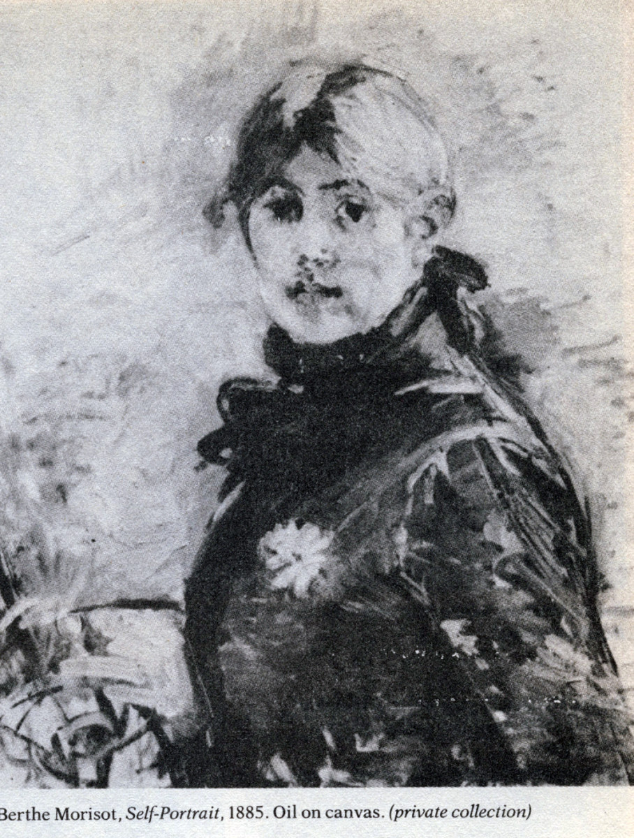 """Self-Portrait,"" by Berthe Morisot, 1885, oil on canvas, private collection."