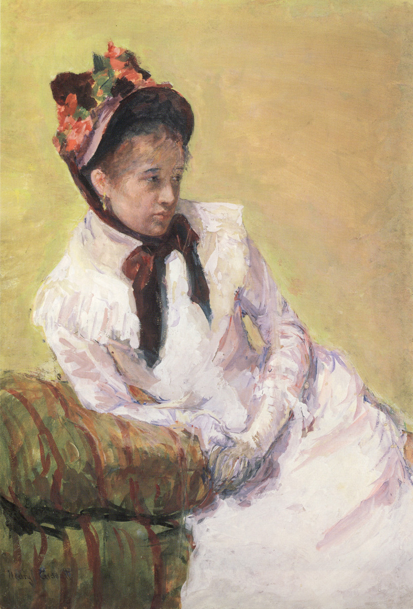 """Self-Portrait,"" by Mary Cassatt, 1878, gouche on paper. Metropolitan Museum of Art, New York."