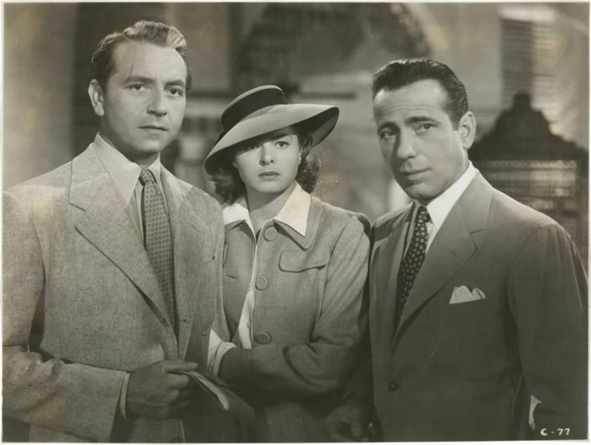 Paul Henreid, Ingrid Bergman and Bogart