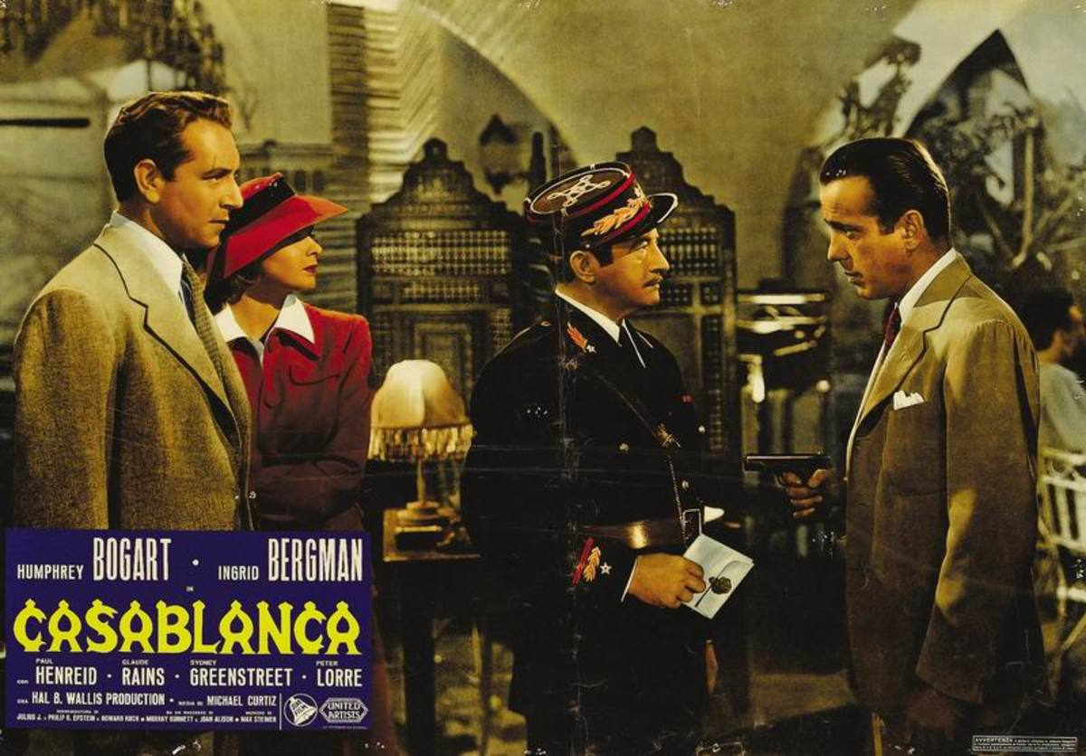 Paul Henreid, Ingrid Bergman, Claude Rains and Bogart