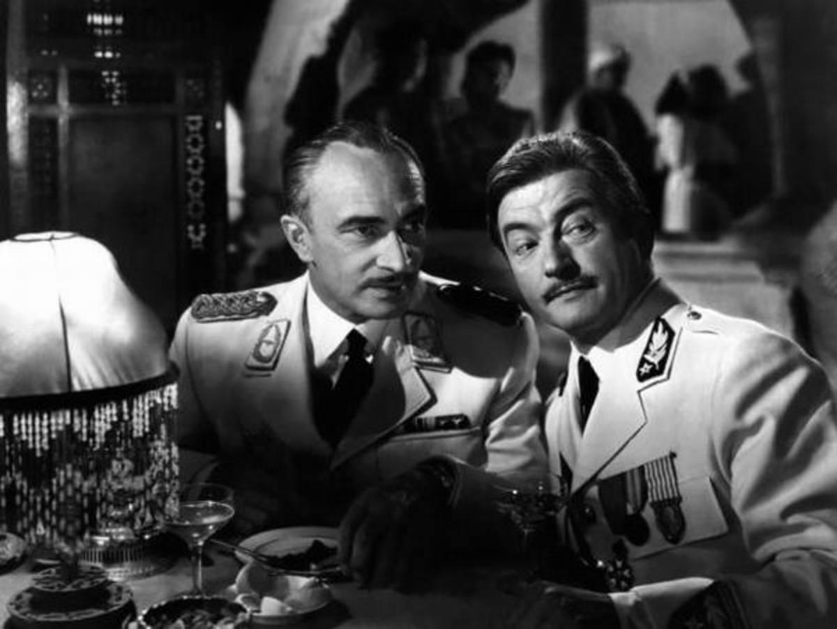 Conrad Veidt with Claude Rains