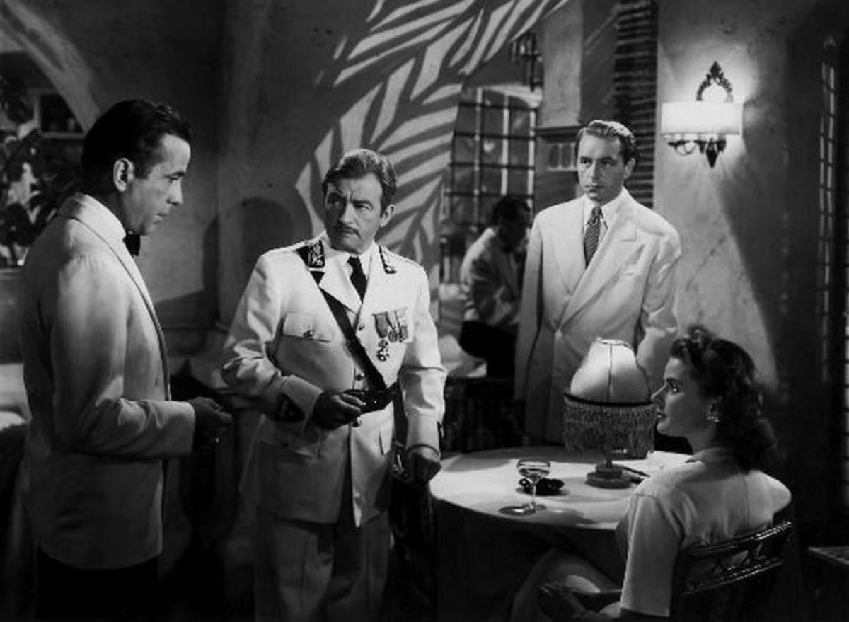 Bogart, Claude Rains, Paul Henreid and Ingrid Bergman