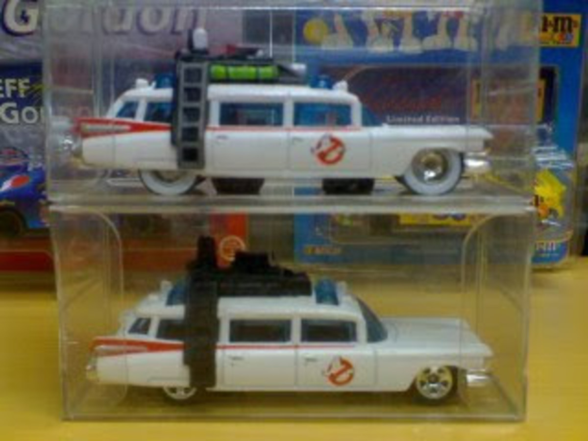 The iconic Ecto-1 diecast first edition
