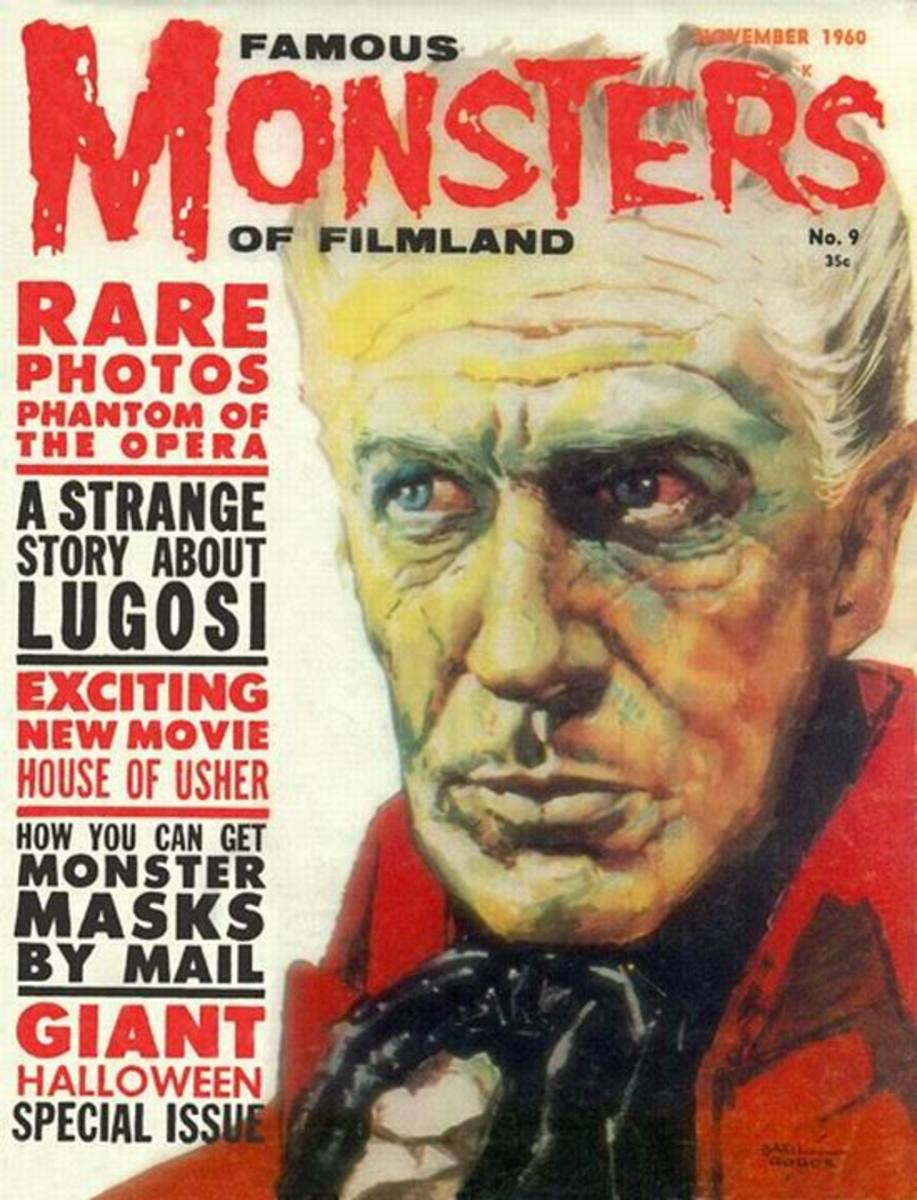 House of Usher (1960) - Famous Monsters #9 - art by Basil Gogos
