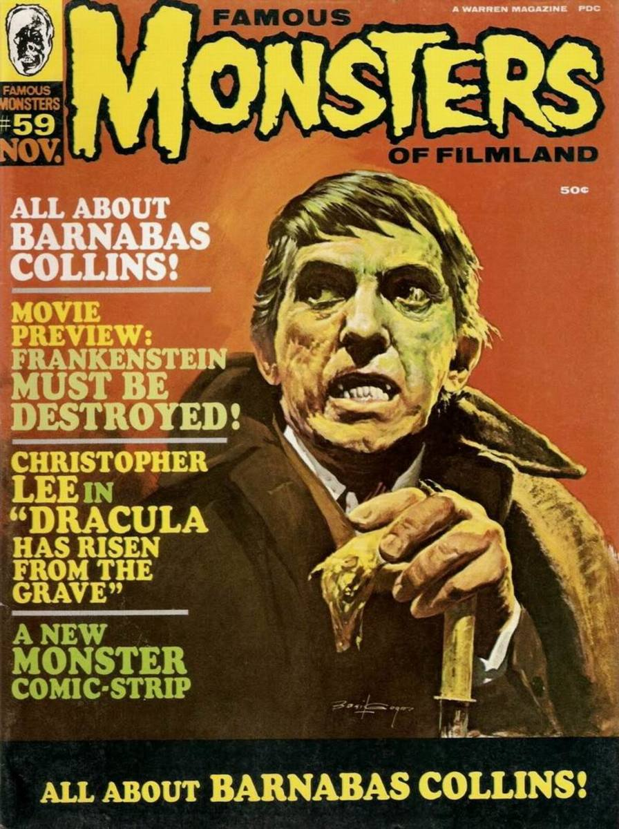 Barnabas Collins - Famous Monsters #59 - art by Basil Gogos