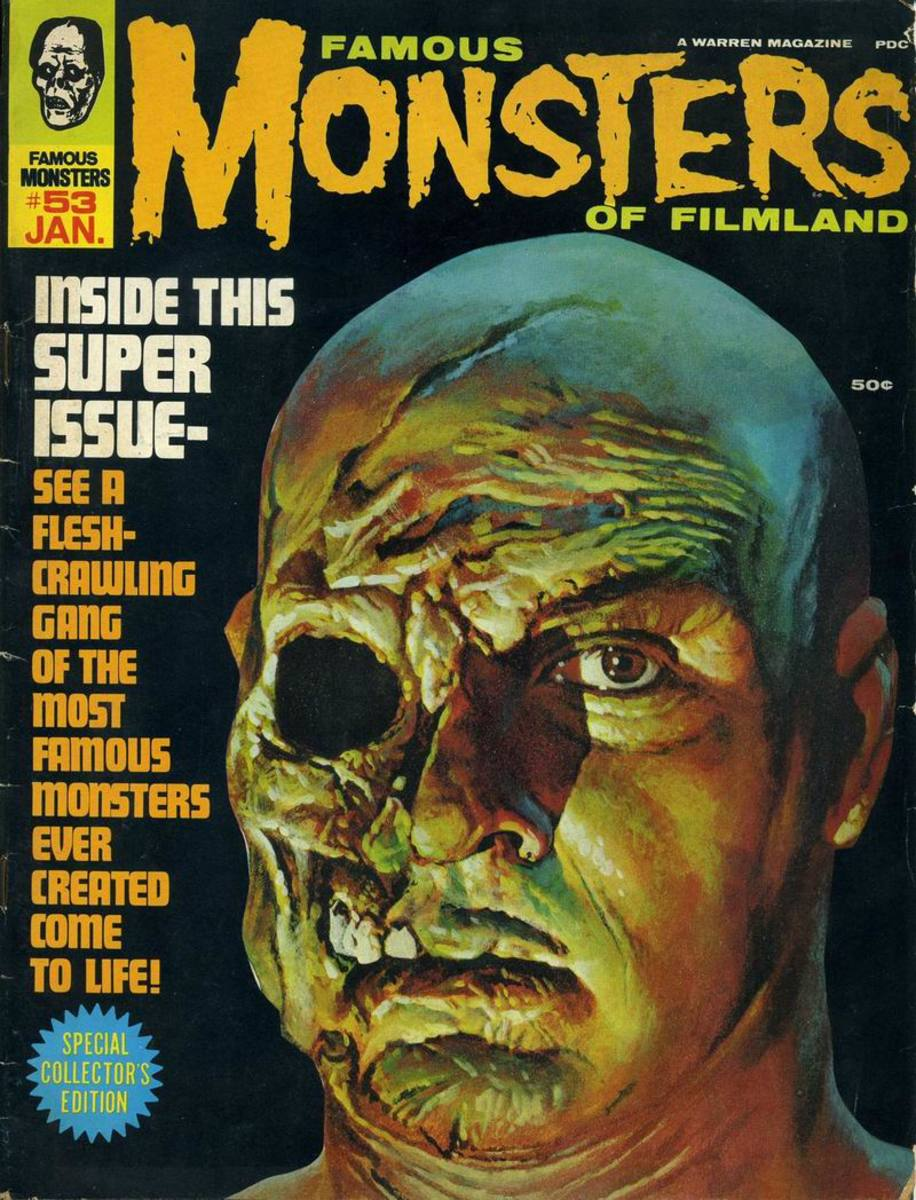 War of the Colossal Beast - Famous Monsters #53 - art by Basil Gogos