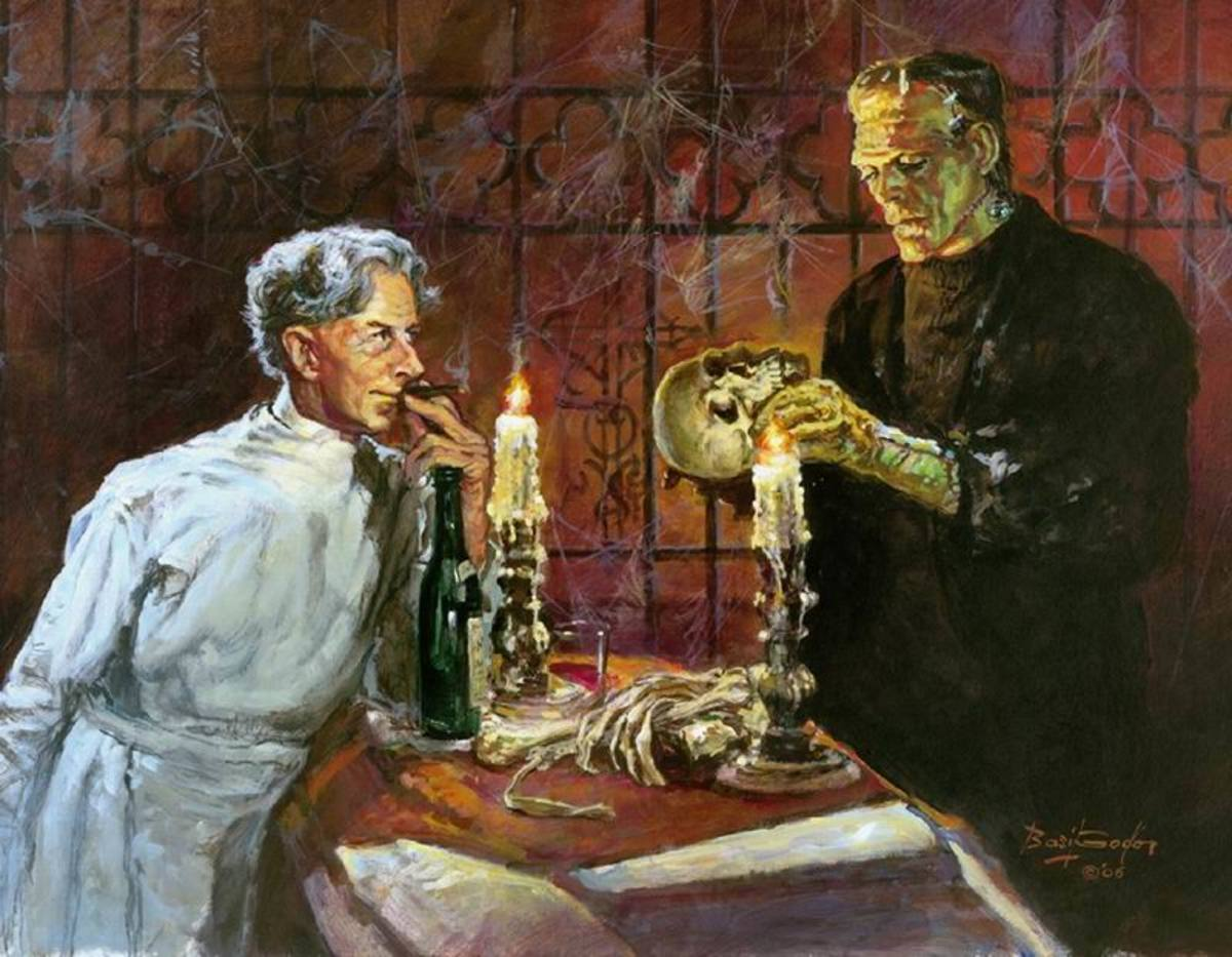 Bride of Frankenstein - art by Basil Gogos