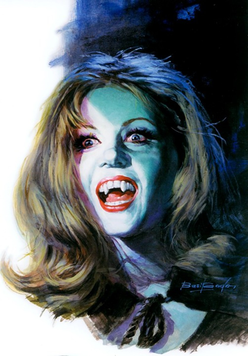 The Vampire Lovers - art by Basil Gogos