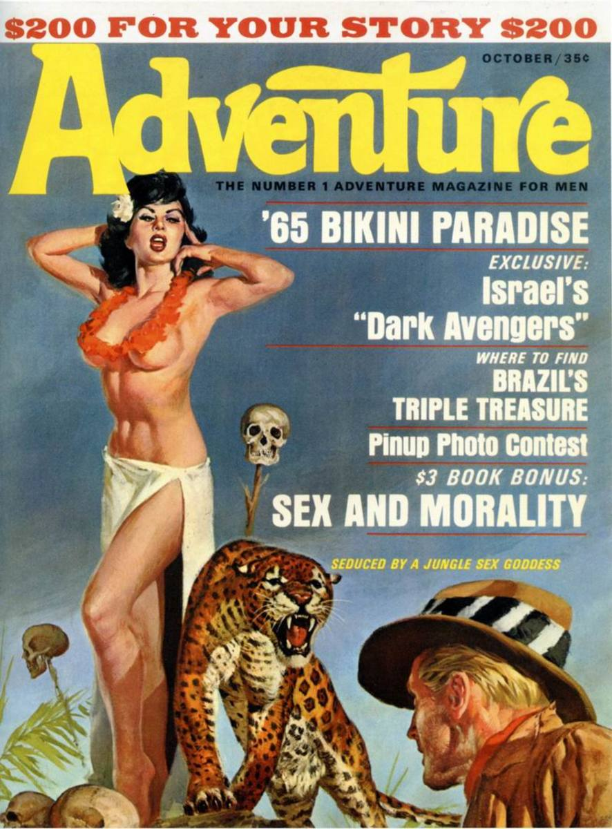 Adventure Magazine Oct 1965 - art by Basil Gogos