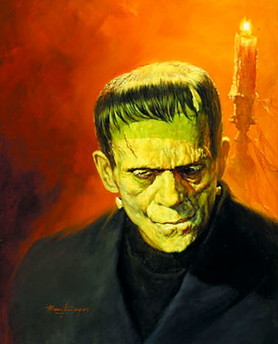 Frankenstein 1931 - art by Basil Gogos