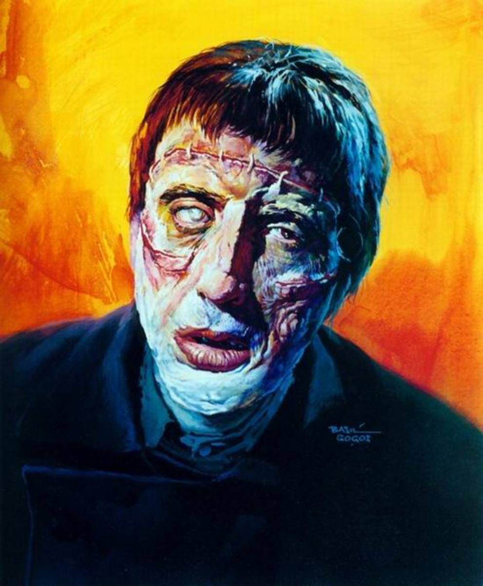 Curse of Frankenstein - art by Basil Gogos