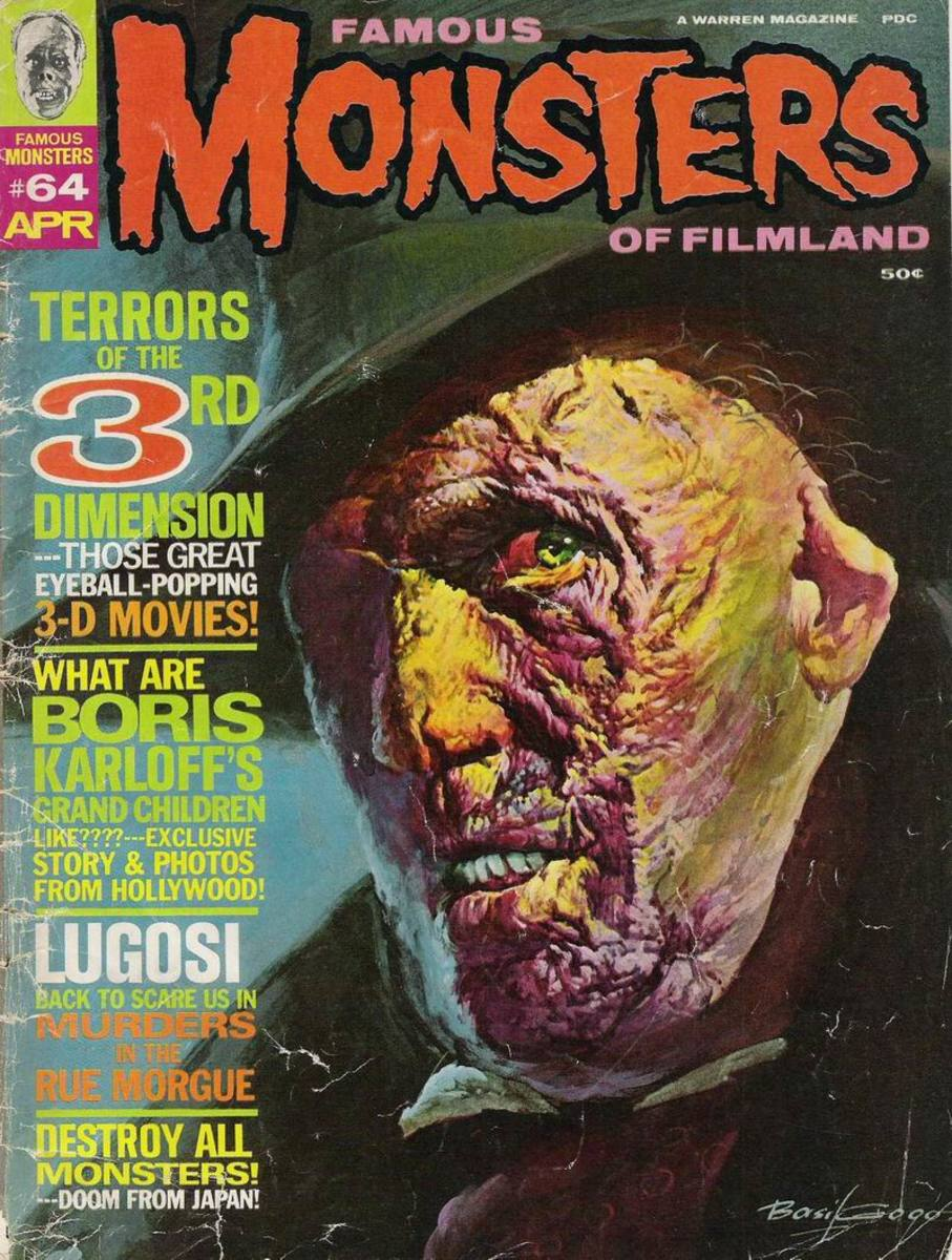 House of Wax (1953) - Famous Monsters #64 - art by Basil Gogos