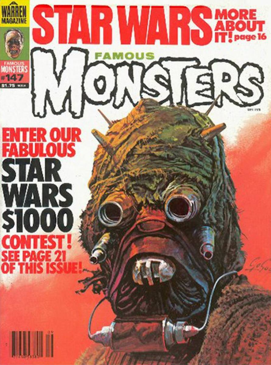 Star Wars - Famous Monsters #147 - art by Basil Gogos