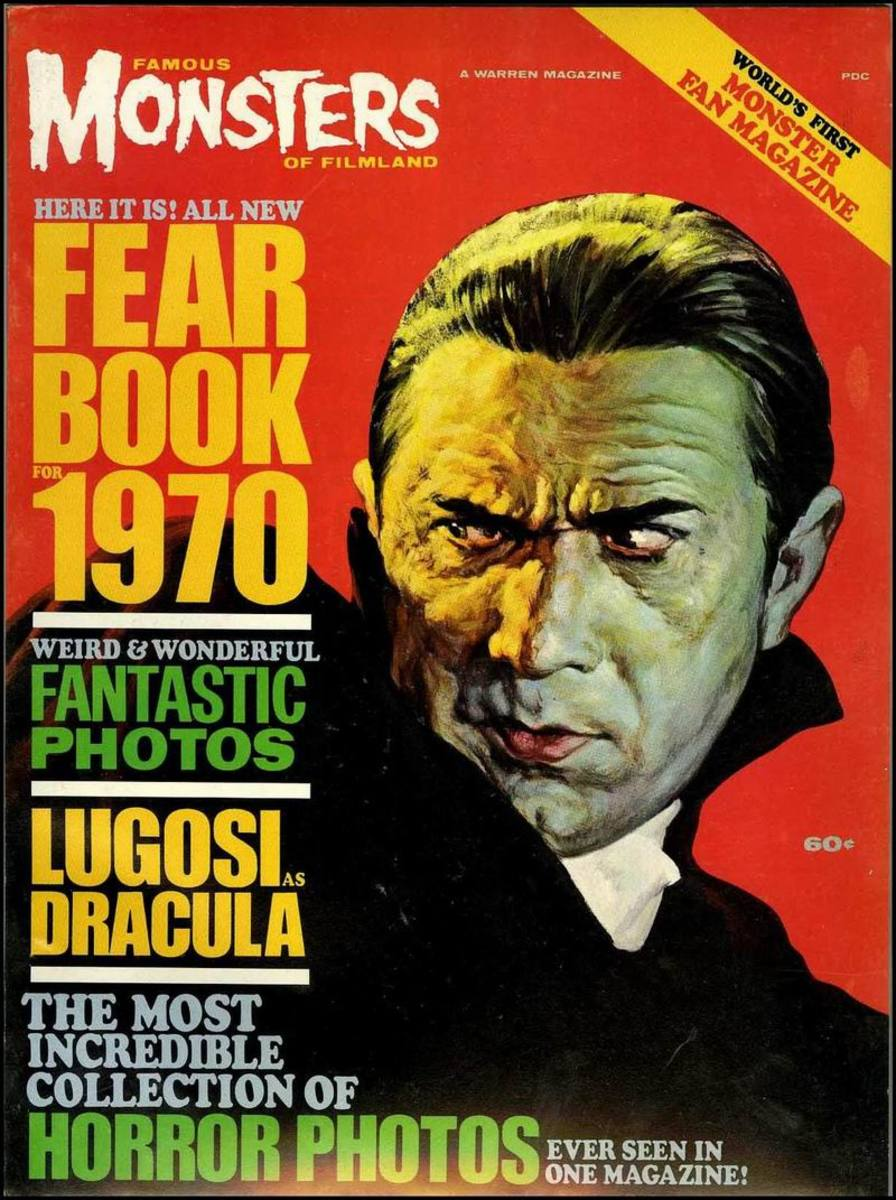 Dracula 1931 - Famous Monsters Fearbook 1970 - art by Basil Gogos