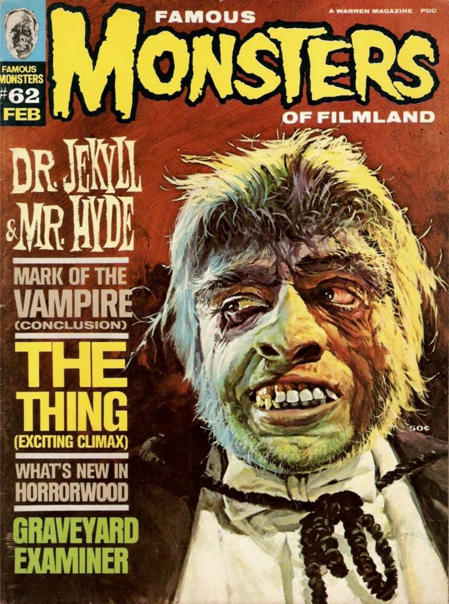Dr. Jekyll and Mr. Hyde 1932 - Famous Monsters #62 - art by Basil Gogos